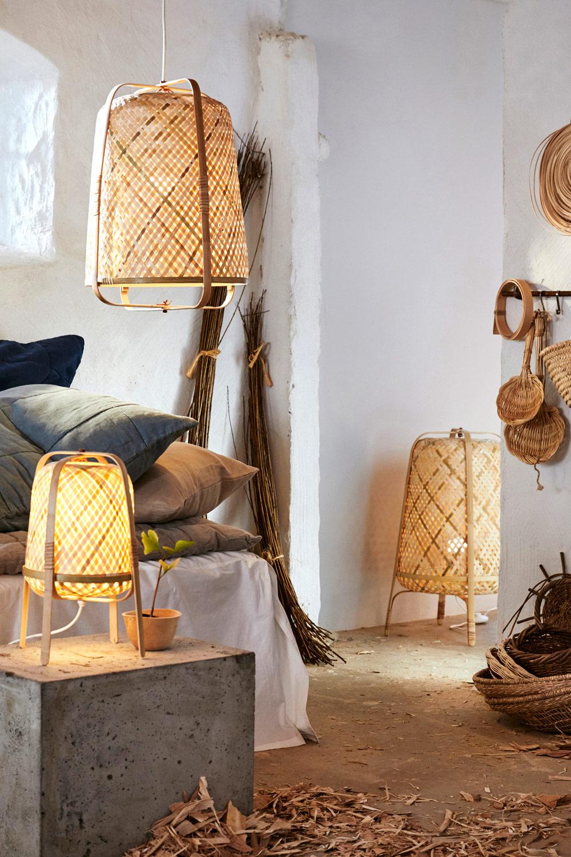 "[unbezahlte werbung]IKEA TREND Soft & Natural Korblampen & Rattan-Schirme | Quelle: ""Inter IKEA Systems B.V. 2019"""
