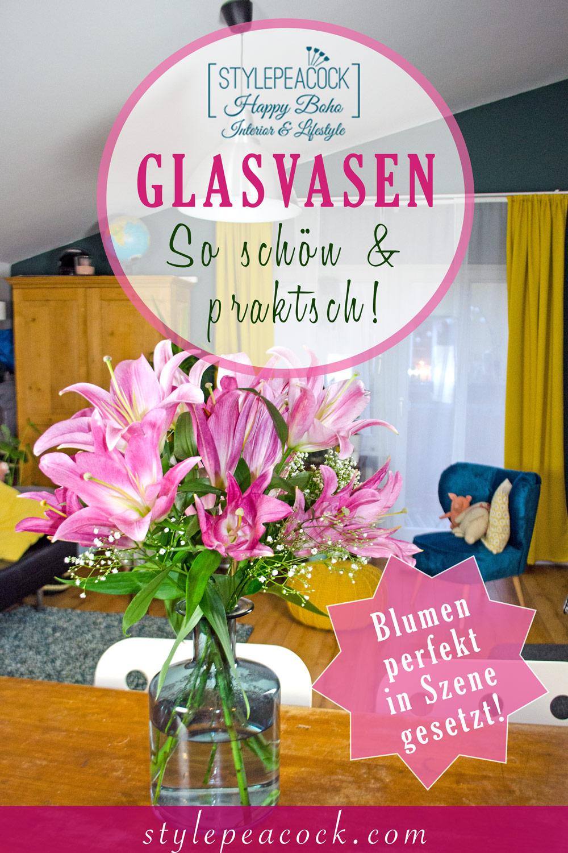[unbezahlte werbung]Glasvasen | Die besten Deko-Tipps und schönsten Vasen für deine Blumen