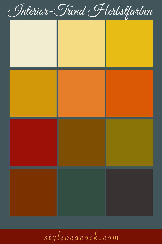 [unbezahlte werbung]Interior-Trend Herbstfarben & Gewürztöne