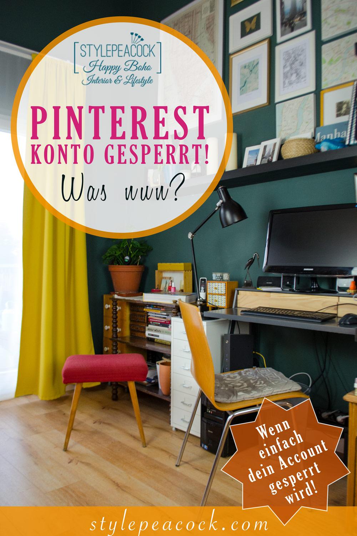 Pinterest Account gesperrt | Was nun? | Social Media Willkür