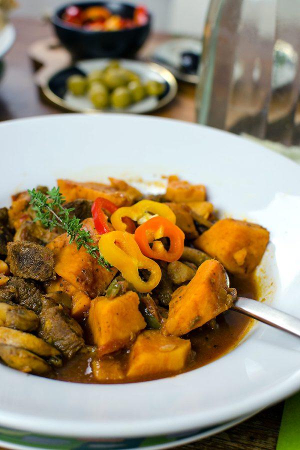 Süßkartoffel-Eintopf mit Bio-Rindfleisch | So einfach nachzukochen | Unwiderstehlich lecker