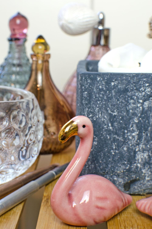Flamingo fürs Bad | So gestaltest du dein Bad mit wenig Einsatz - und fast kostenfrei - total gemütlich [unbezahlte werbung]