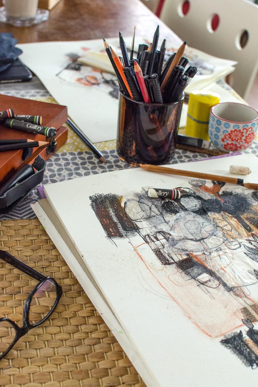 Meine Rückkehr zur Kunst | Zeichnungen, Collagen und Papierkunst von Christina Walz| [beinhaltet werbung]