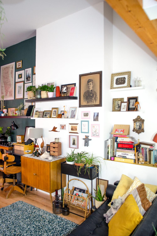 Miene Wohnzimmer Galeriewand