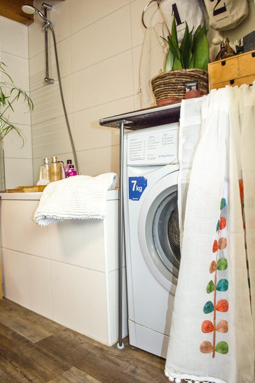 DIY Waschmaschine verkleiden und tolles Bad Makeover