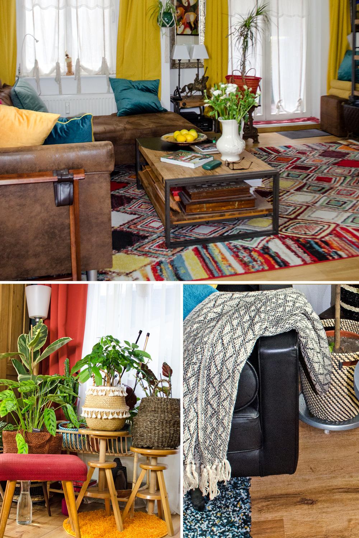 Fransen, Teppiche und Ethnomuster für den Bohemian Style [unbezahlte werbung]