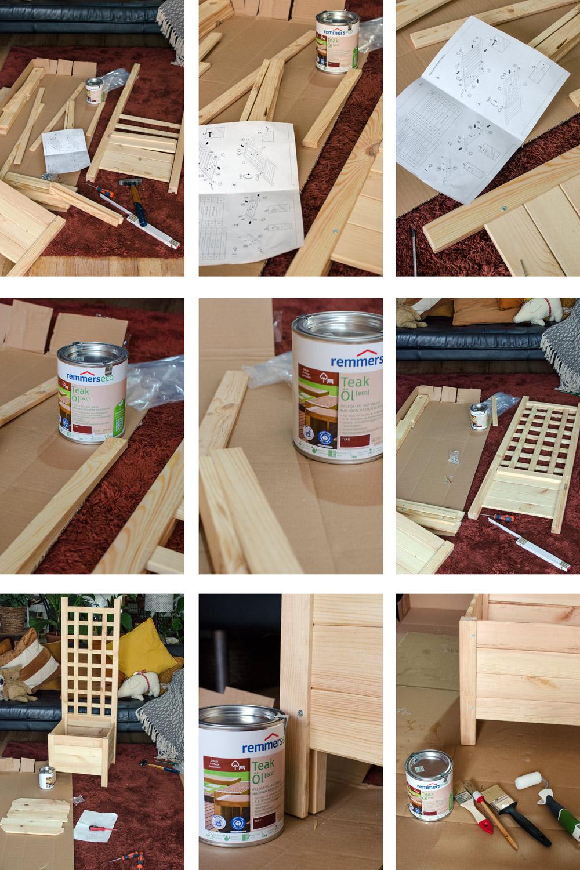 DIY Pflanzkasten Bee [eco]Remmers Gartenöl Teak [anzeige]
