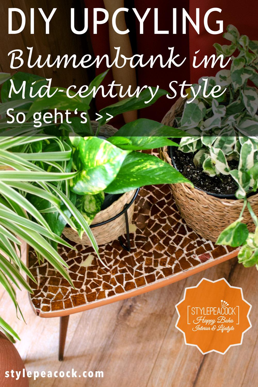 Mid Century Blumenbank Upcycling | DIY Tutorial